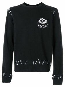 KTZ monster pin embroidery sweatshirt - Black