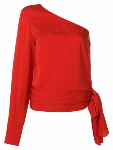 Stella McCartney one shoulder cady blouse - Red