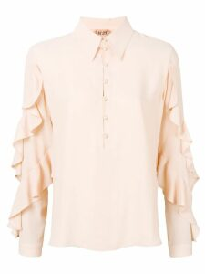Nº21 ruffle sleeve blouse - Neutrals