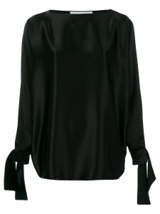 Gianluca Capannolo tied sleeves blouse - Black