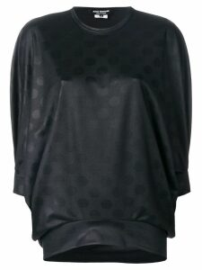 Junya Watanabe dot texture blouse - Black