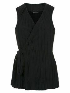 Uma Raquel Davidowicz Ciao wrap style top - Black