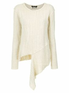 Uma Raquel Davidowicz Creme asymmetric sweater - White