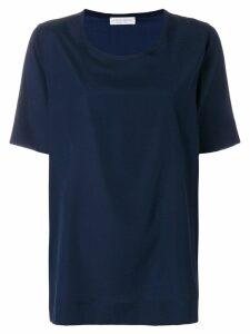 Le Tricot Perugia short-sleeve blouse - Blue