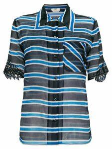 Fendi striped sheer blouse - Blue