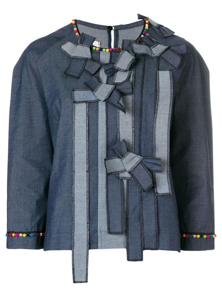 Antonio Marras bow front denim top - Blue