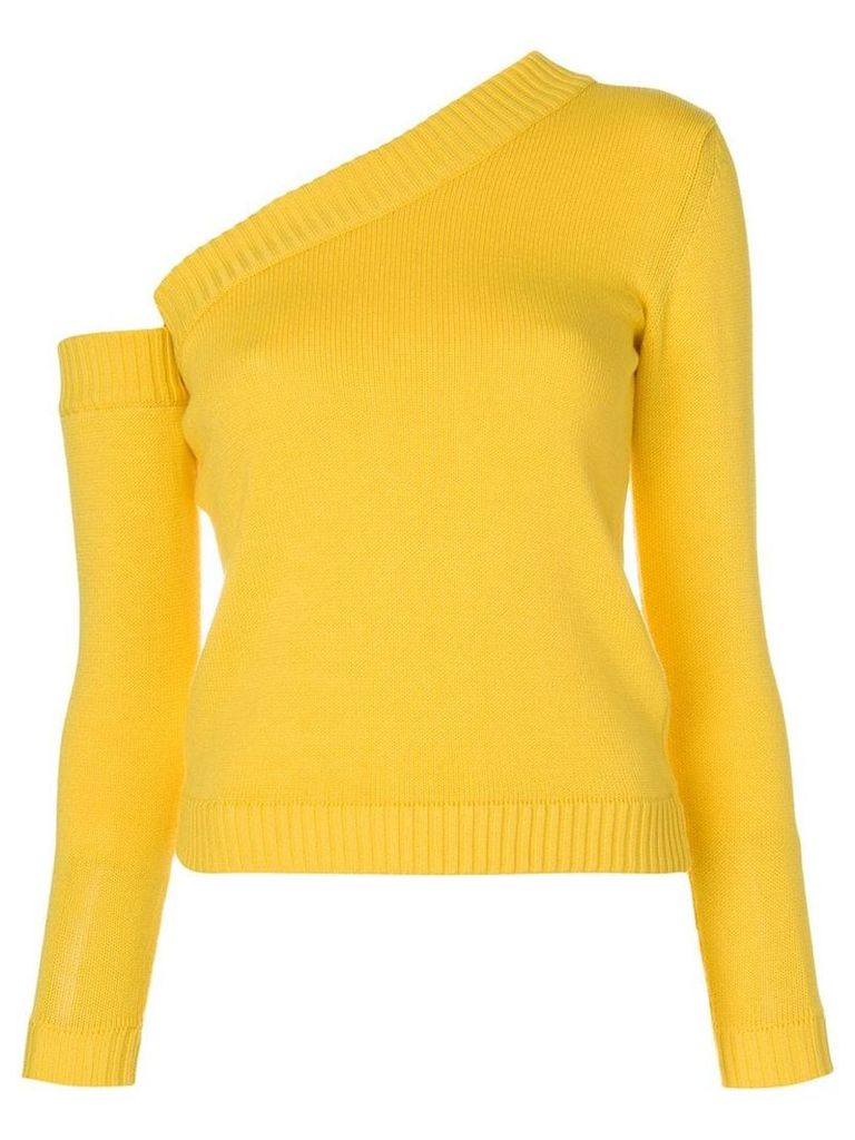Miahatami asymmetric style sweater - Yellow