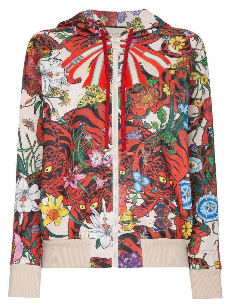 Gucci Floral print hoodie - Multicolour