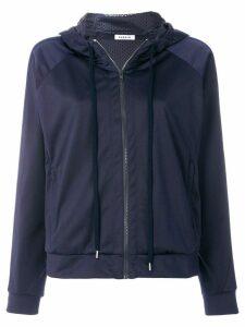P.A.R.O.S.H. side stripe zipped hoodie - Blue