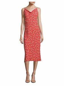 Midi Floral Slip Dress
