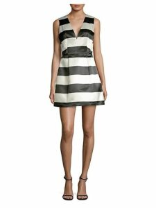 Patty Striped Satin Dress