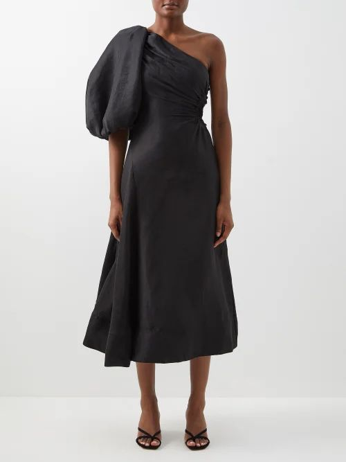 Christian Louboutin - Loubi Stud Embellished Leather Clutch - Womens - Black Multi