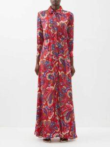 Katharine Hamnett London - Choose Life Print Silk T Shirt - Womens - Blue