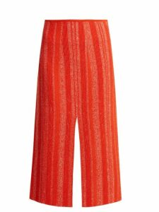 Proenza Schouler - Textured Knit Midi Skirt - Womens - Red White