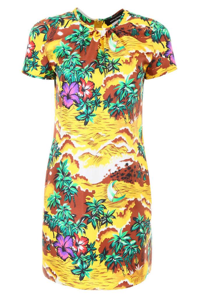 Dsquared2 Printed Silk Dress
