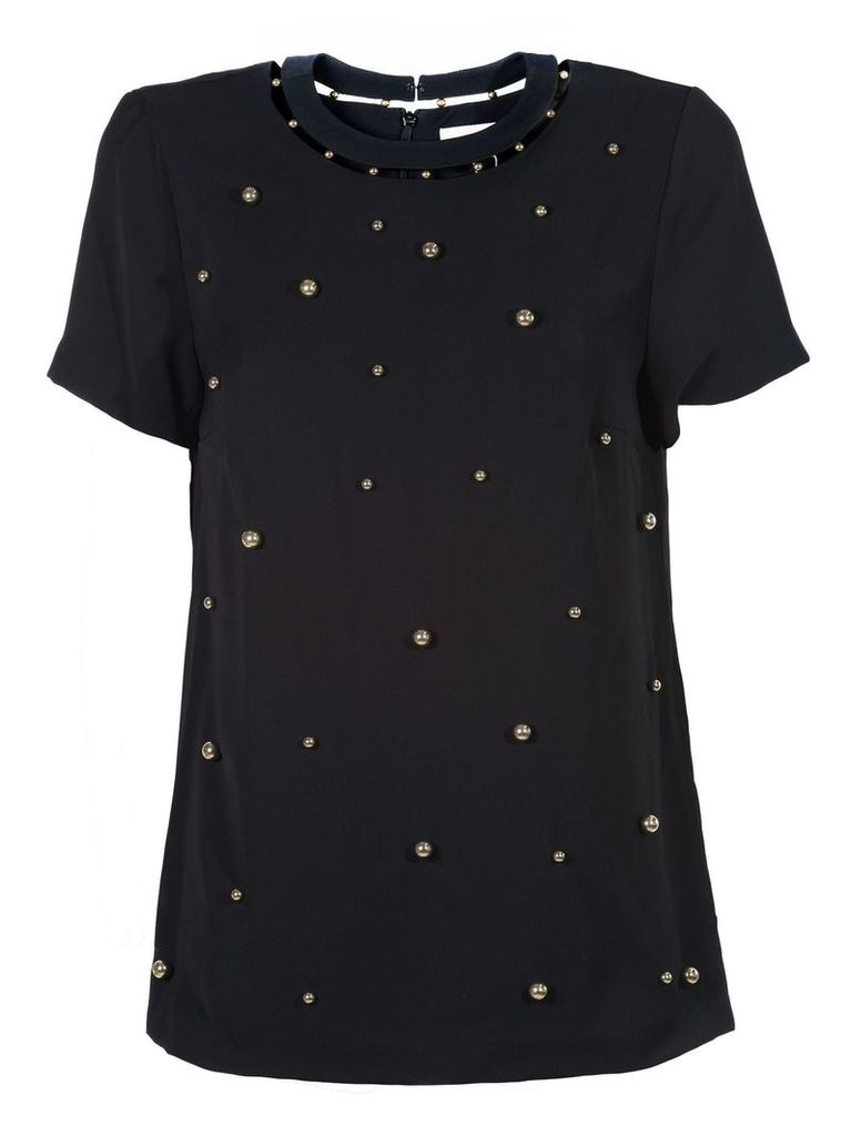 Michael Michael Kors Embellished Cut-out Blouse