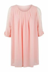 Lace Sleeve Smock Dress