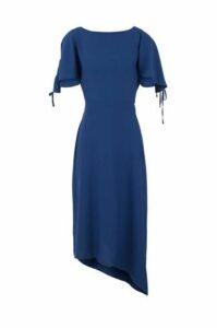 Tie Sleeve Asymmetric Dress
