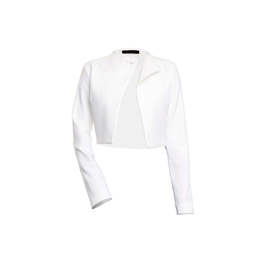 Philosofée - Off White Gabardine Cropped Jacket