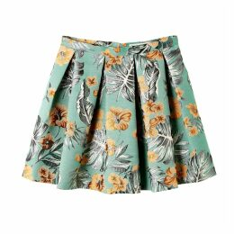 Crysalide Printed Skater Skirt