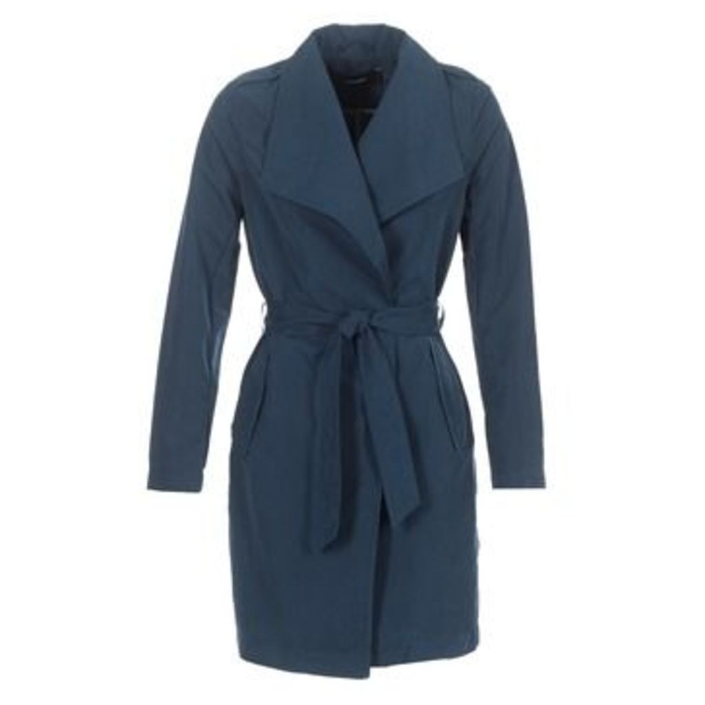 Vero Moda  VMELINAS  women's Trench Coat in Blue
