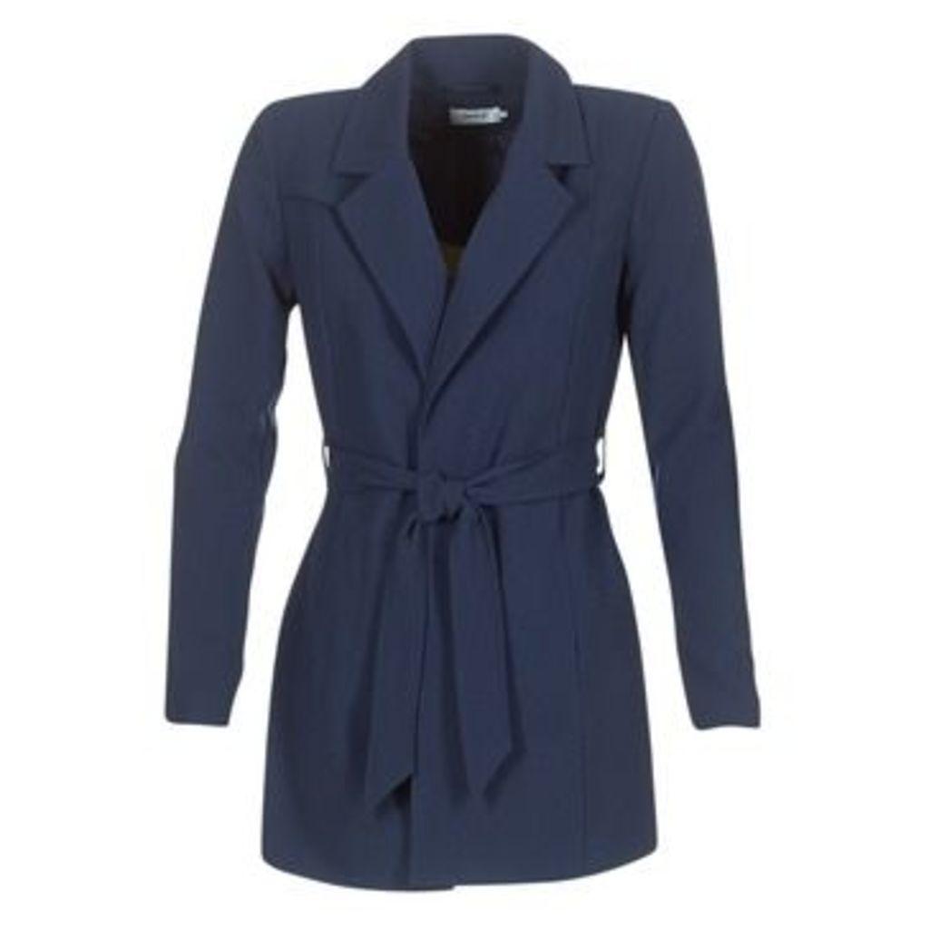 Only  DICTE RUNA  women's Trench Coat in Blue