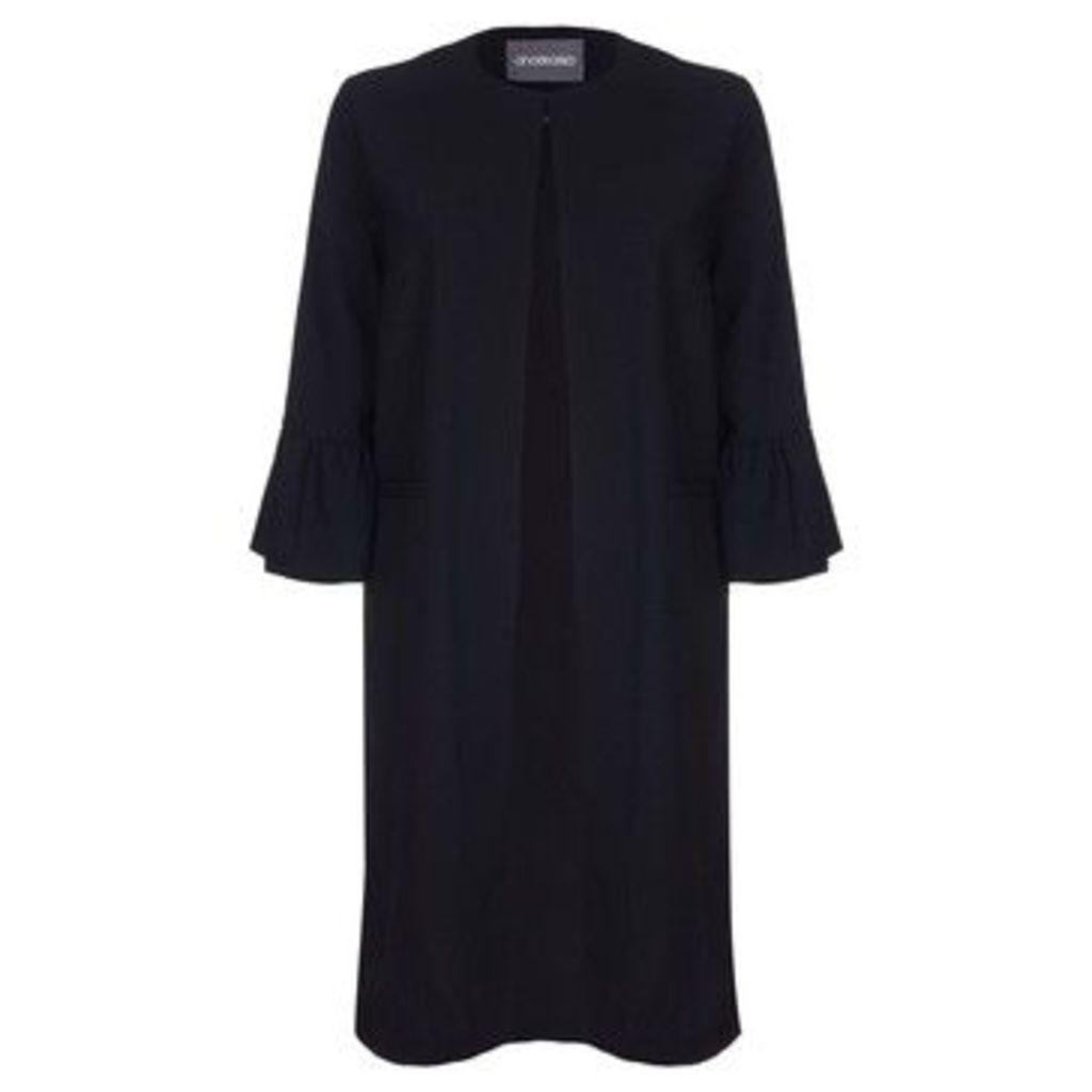 Anastasia  Unlined Long Evening Coat  women's Coat in Black