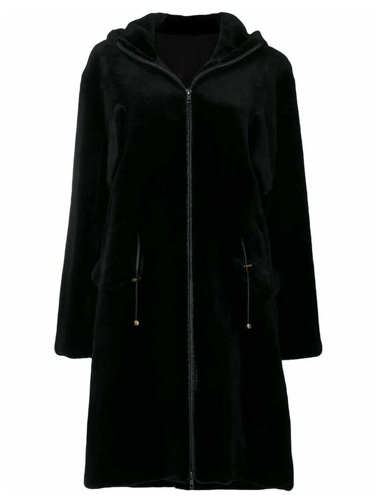 Liska sheared mink fur coat - Black