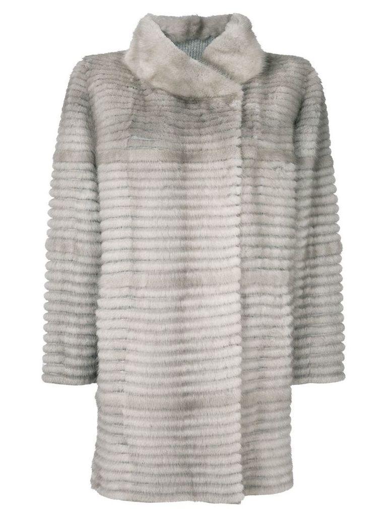 Liska mink fur coat - Grey