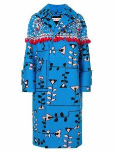 Marni oversized dust coat - Blue