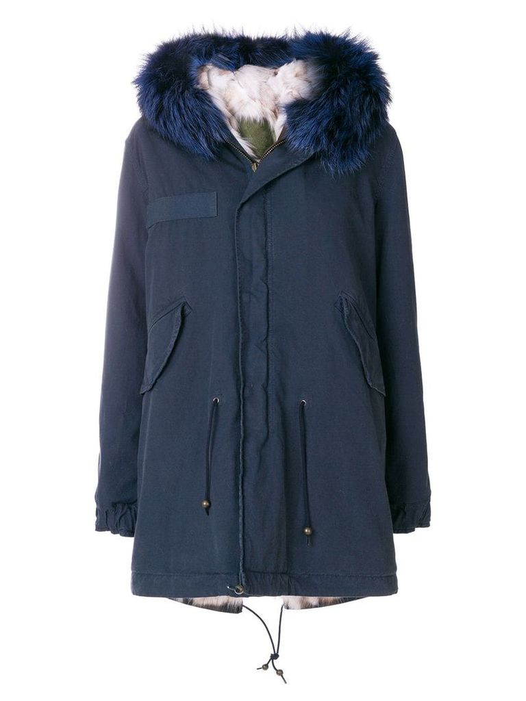 Mr & Mrs Italy fur lining parka - Blue