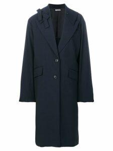 Miu Miu oversized buttoned coat - Blue