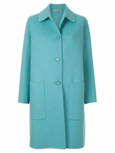 Bottega Veneta single breasted coat - Blue