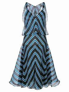 Fendi striped flared dress - Blue