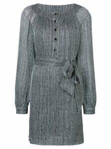 Vanessa Seward polka dot print tie waist dress - Black