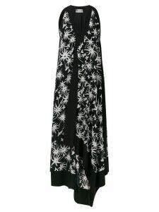 Lanvin printed trapeze dress - Black