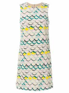 M Missoni scallop print dress - Neutrals