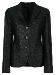 Tagliatore curved hem blazer - Black