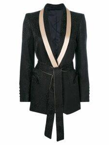 Blazé Milano belted tailored blazer - Black