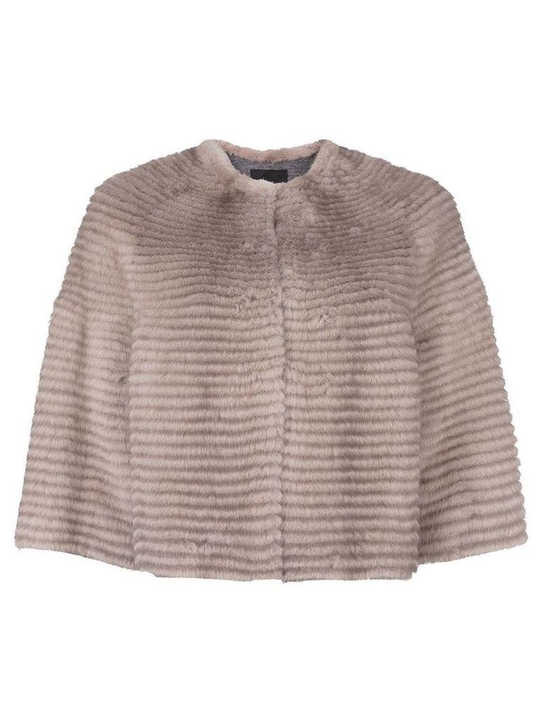 Liska cropped mink fur jacket - Grey