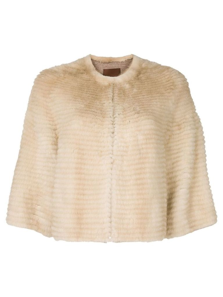 Liska cropped mink fur jacket - Neutrals
