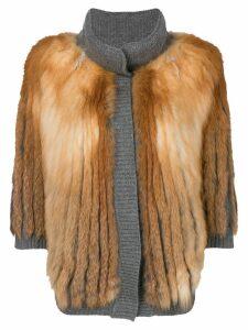 Liska fox fur jacket - Grey