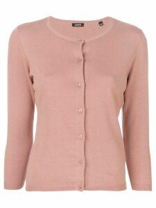 Aspesi round neck cardigan - Neutrals
