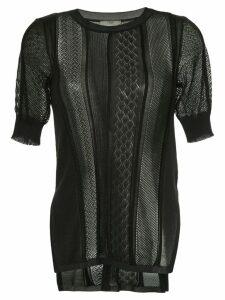 Fendi sheer knitted top - Black