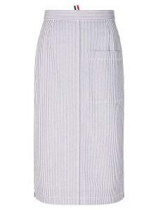 Thom Browne striped straight skirt - Blue
