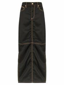 Eytys contrast stitch maxi skirt - Black