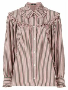 Alexa Chung striped button shirt - Pink