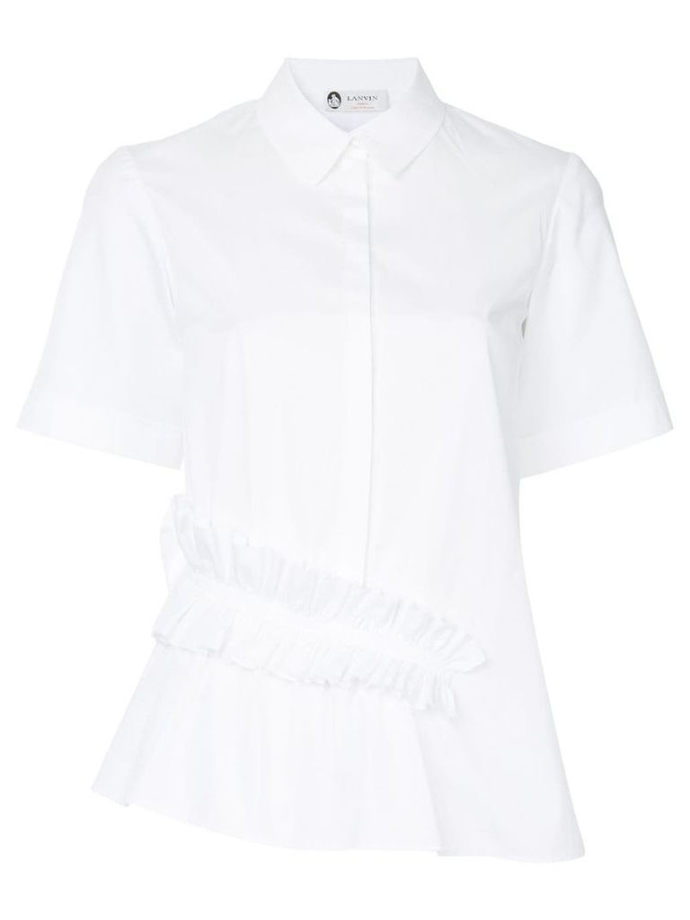 Lanvin ruffle detail shirt - White