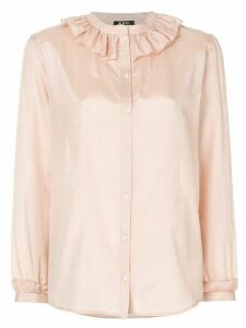 A.P.C. frill neck shirt - Neutrals