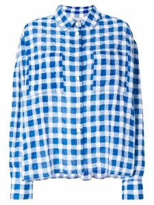 Natasha Zinko patterned oversized shirt - Blue